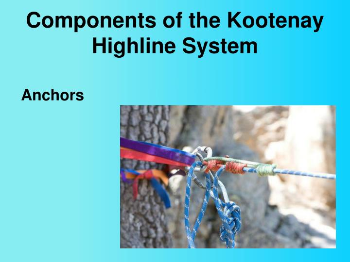 Components of the Kootenay Highline System