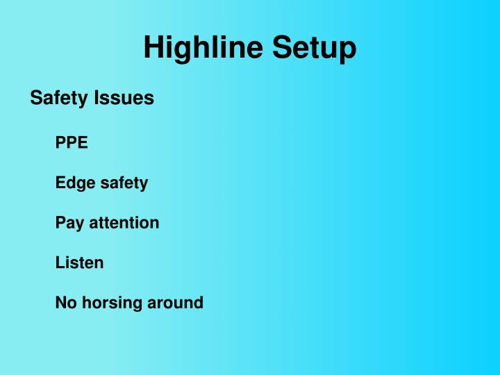 Highline Setup
