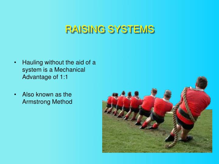 RAISING SYSTEMS
