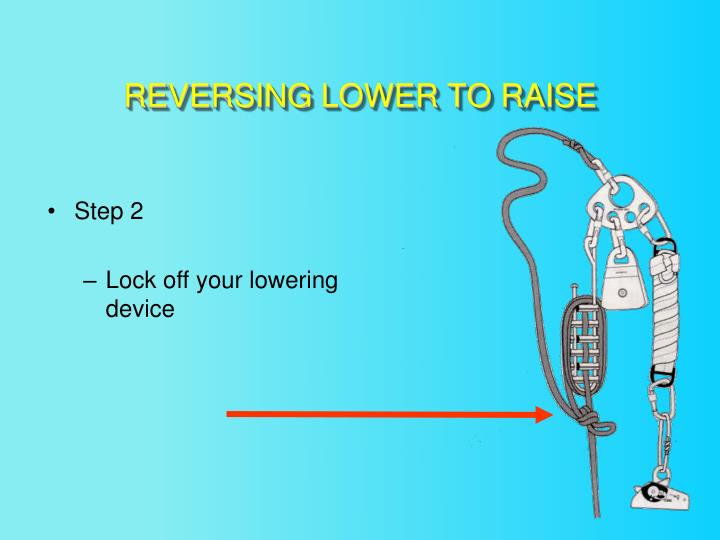 REVERSING LOWER TO RAISE