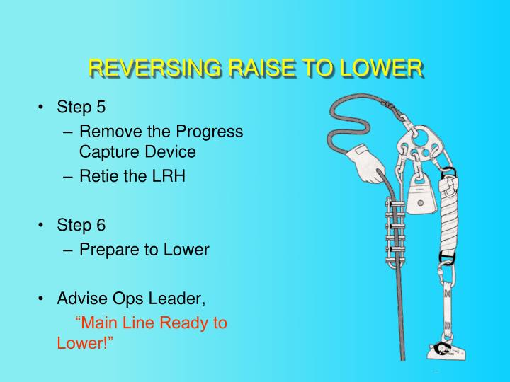 REVERSING RAISE TO LOWER