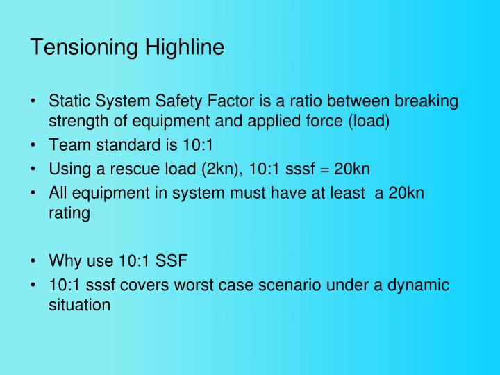 Tensioning Highline