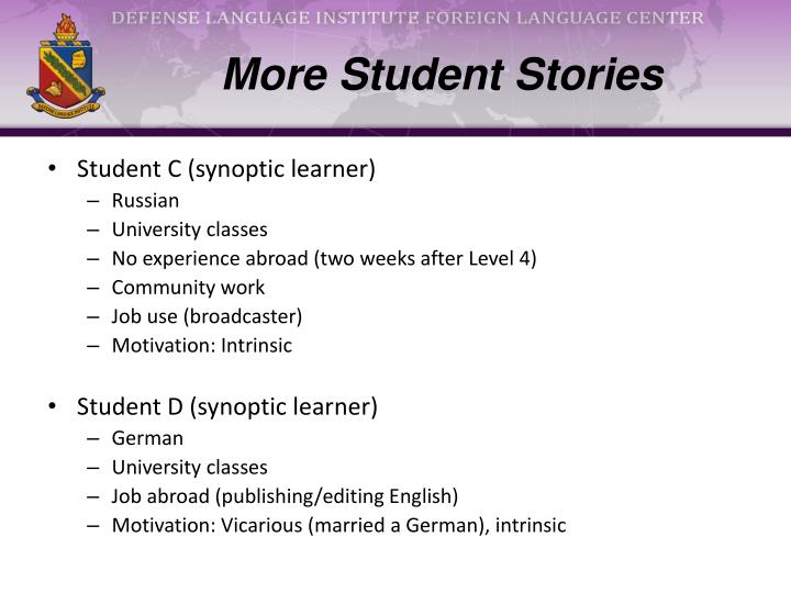 More Student Stories