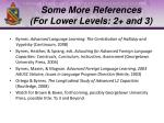 some more references for lower levels 2 and 3