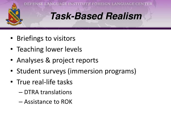 Task-Based Realism