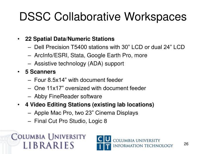 DSSC Collaborative Workspaces