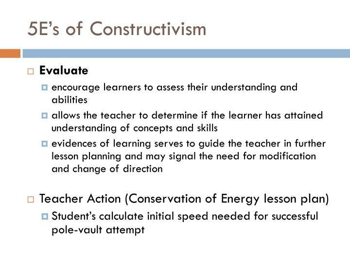 5E's of Constructivism