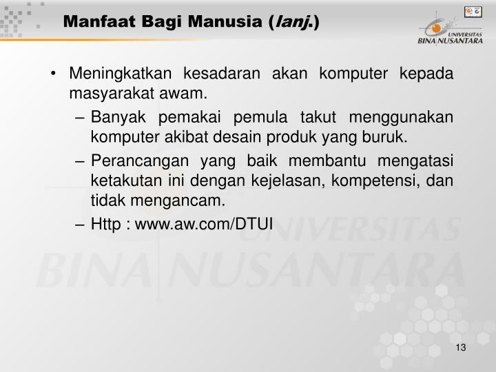 Manfaat Bagi Manusia (
