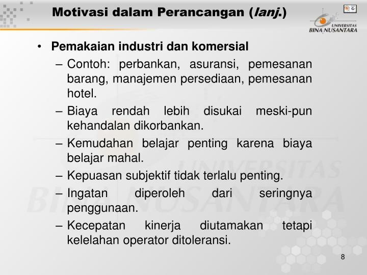Motivasi dalam Perancangan (