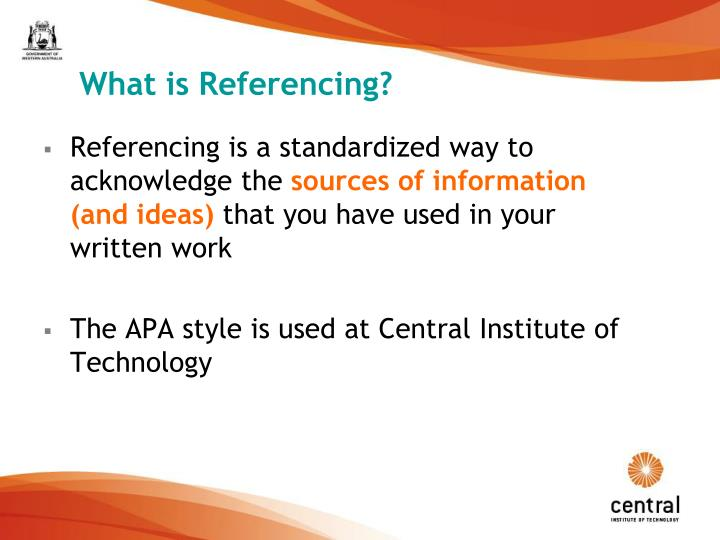What is Referencing?
