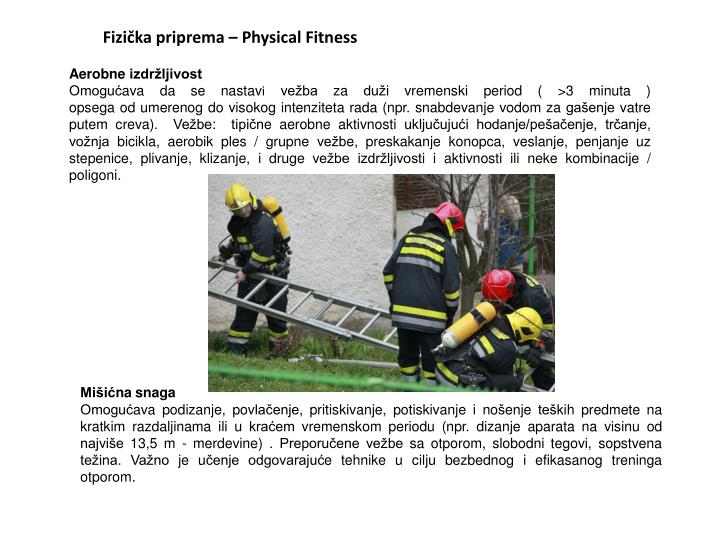 Fizička priprema – Physical Fitness