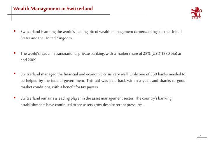 Wealth Management in Switzerland