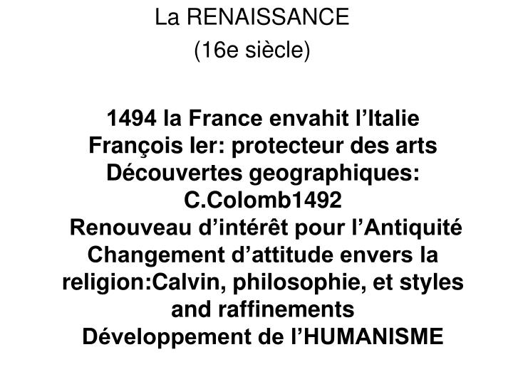 1494 la France envahit l'Italie