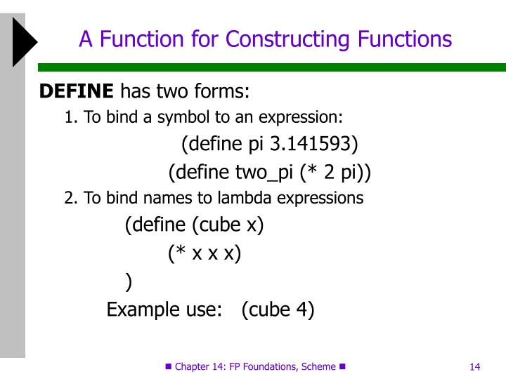 A Function for Constructing Functions