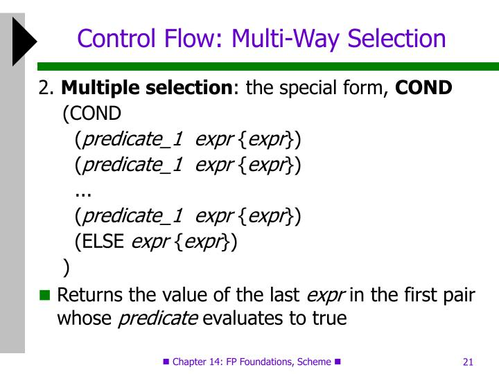 Control Flow: Multi-Way Selection