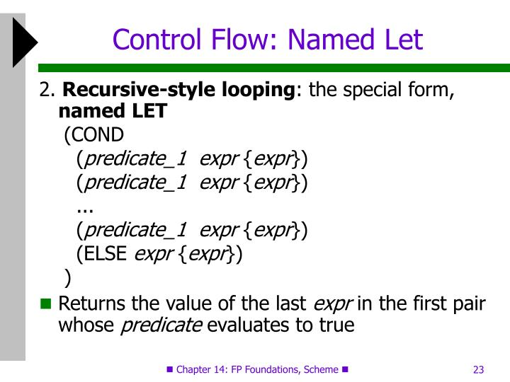 Control Flow: Named Let