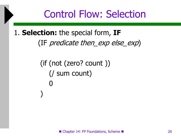 Control Flow: Selection