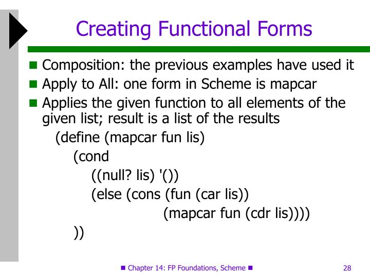 Creating Functional Forms