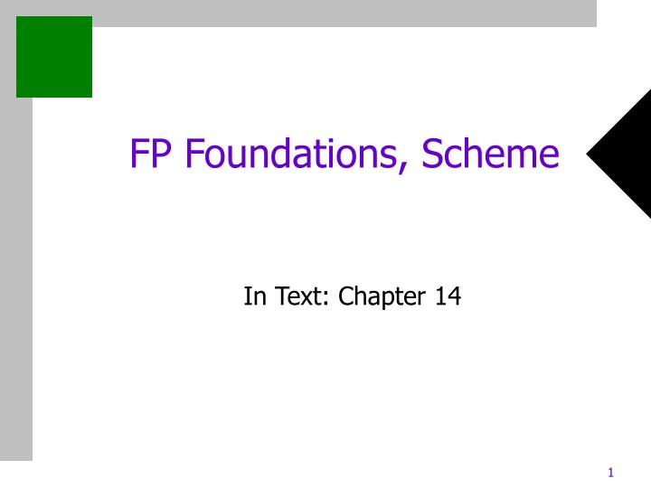 Fp foundations scheme