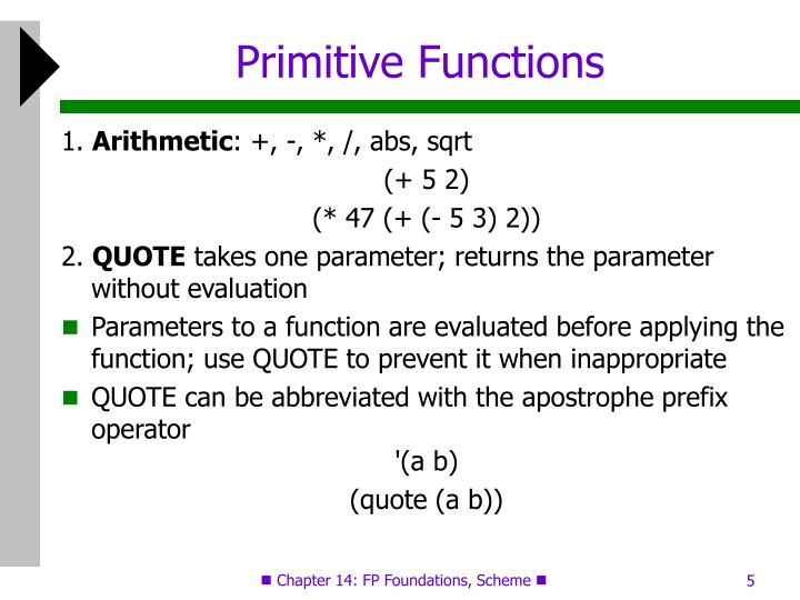 Primitive Functions