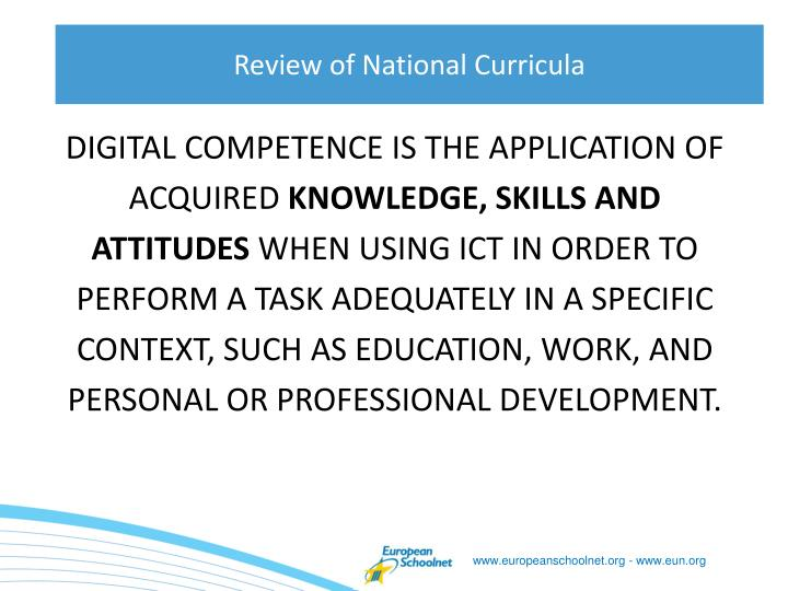 Digital competence is the application of