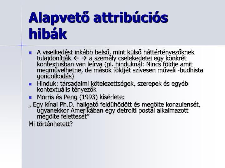 Alapvető attribúciós hib