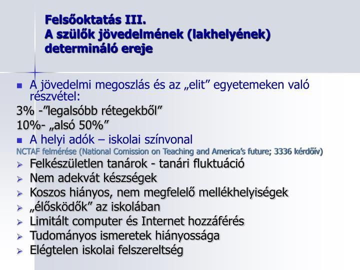 Felsőoktatás III.