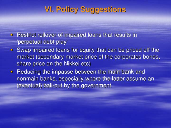 VI. Policy Suggestions