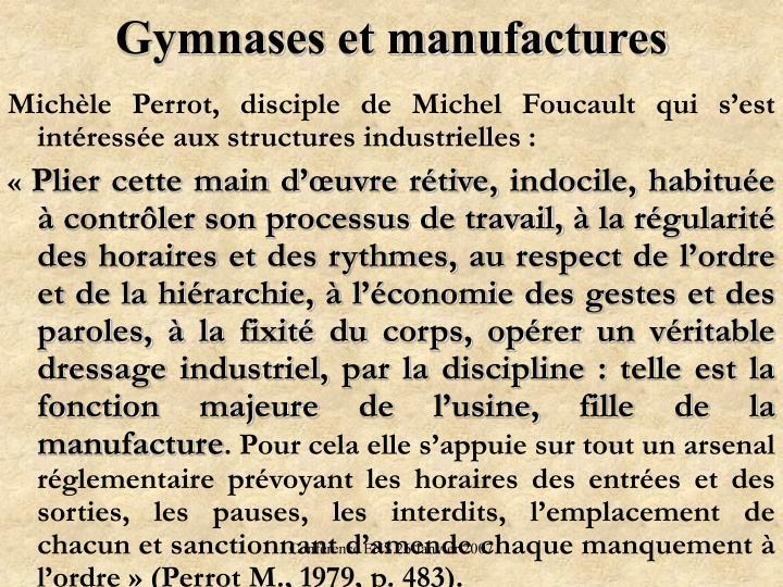 Gymnases et manufactures