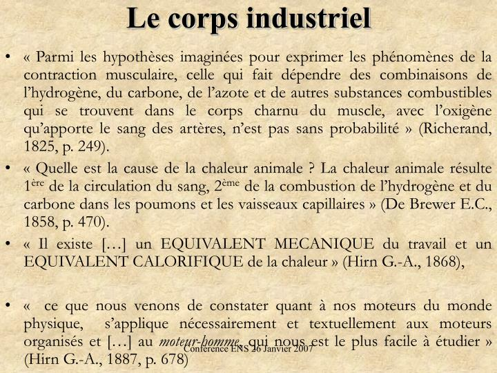Le corps industriel