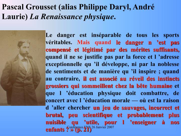 Pascal Grousset (alias Philippe Daryl, Andr Laurie)