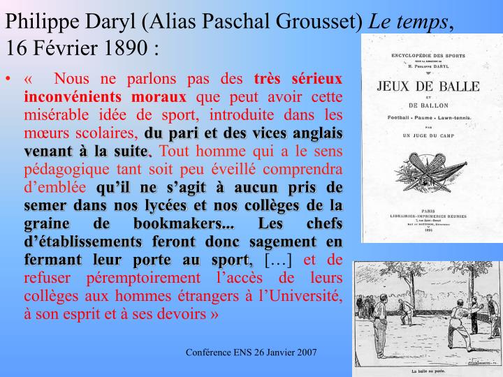 Philippe Daryl (Alias Paschal Grousset)