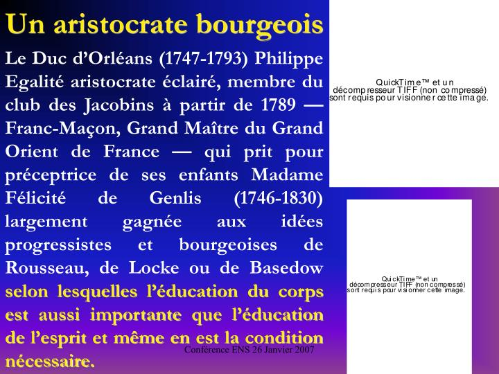 Un aristocrate bourgeois