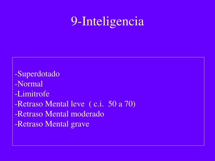9-Inteligencia