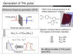 generation of thz pulse