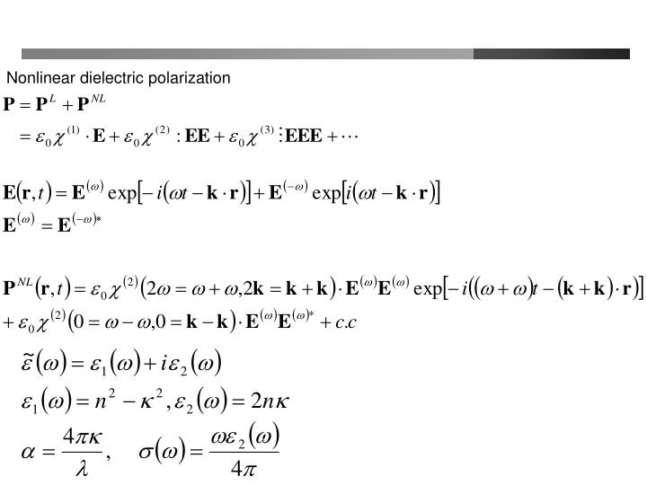 Nonlinear dielectric polarization