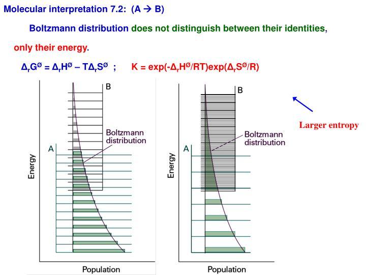 Molecular interpretation 7.2:  (A