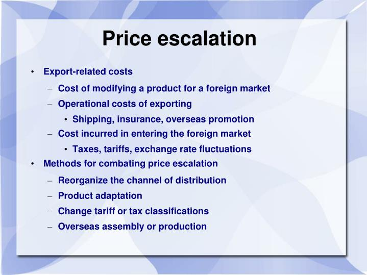 Price escalation