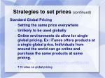 strategies to set prices continued1
