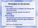 strategies to set prices