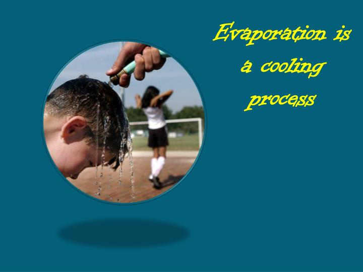 Evaporation is a cooling process