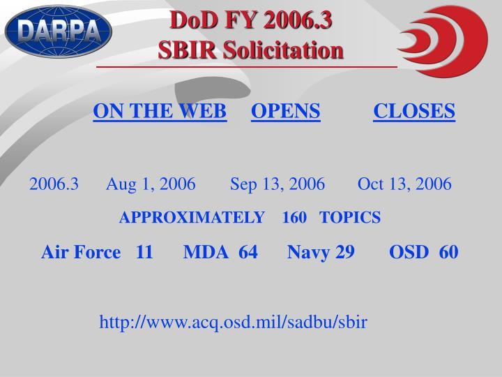 DoD FY 2006.3