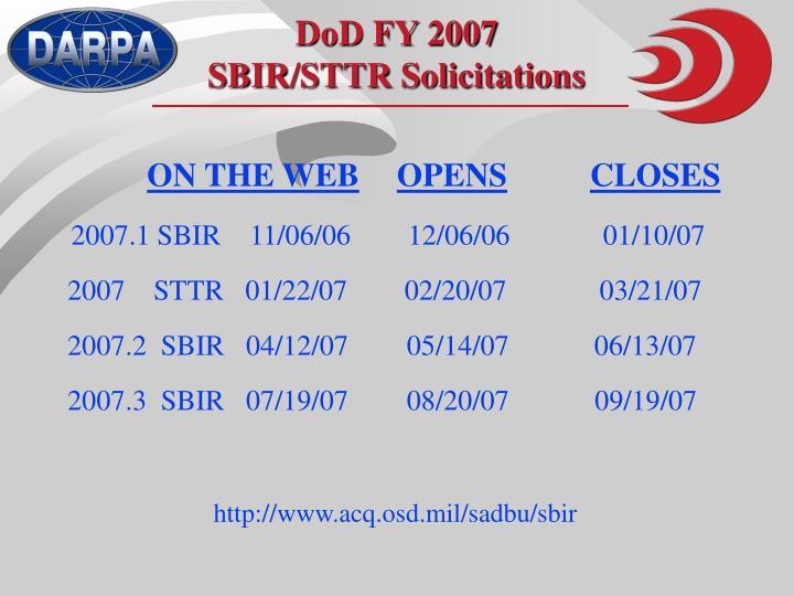DoD FY 2007