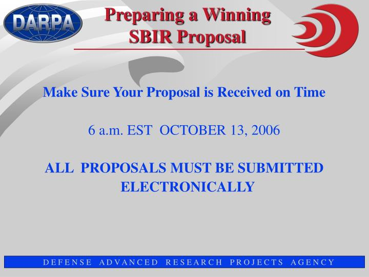 Make Sure Your Proposal is Received on Time