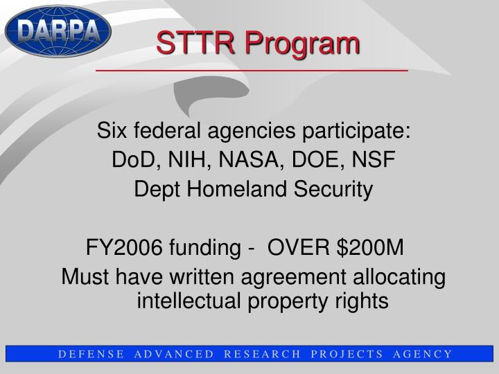 Six federal agencies participate: