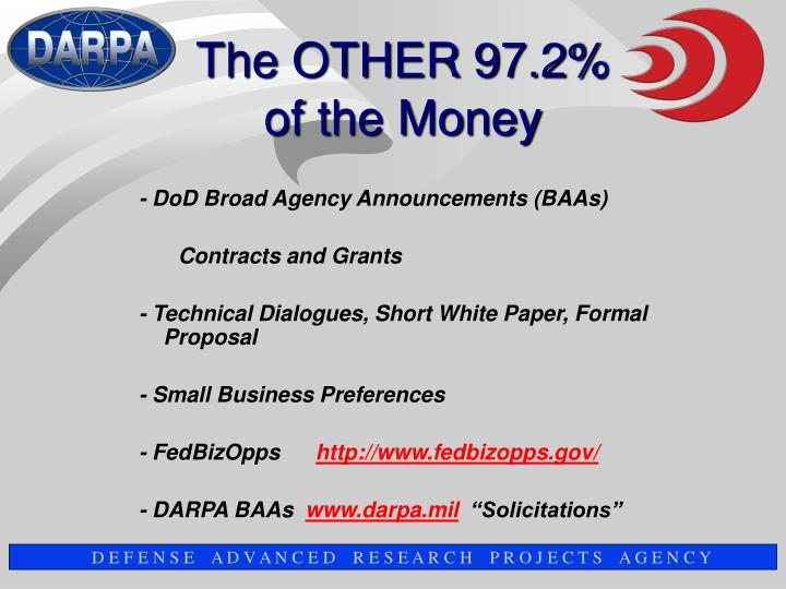 - DoD Broad Agency Announcements (BAAs)
