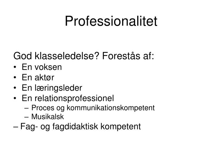 Professionalitet