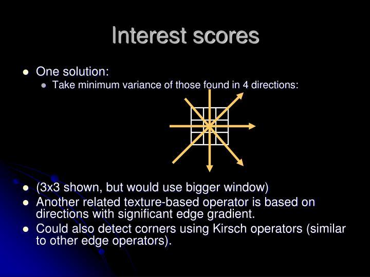 Interest scores