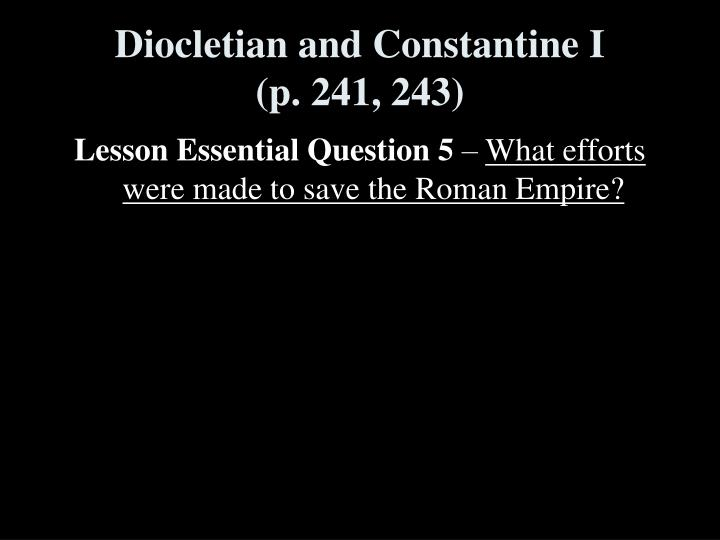 Diocletian and Constantine I