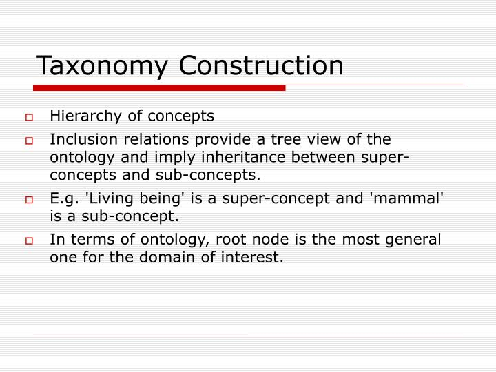 Taxonomy Construction